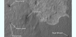"""Les """"pyramides"""" sur Mars ne sont que des pièces tombées de Curiosity"""